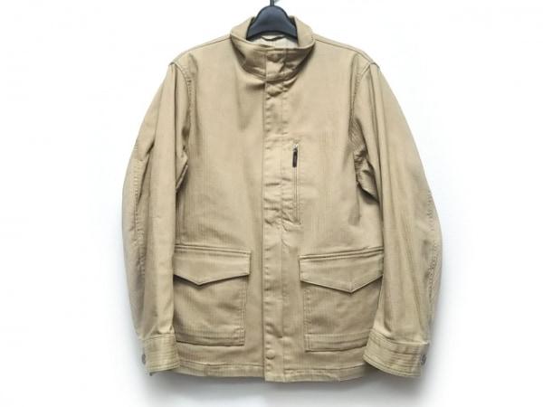 ニジュウサンク オム ジャケット サイズ46 XL メンズ ベージュ ジップアップ