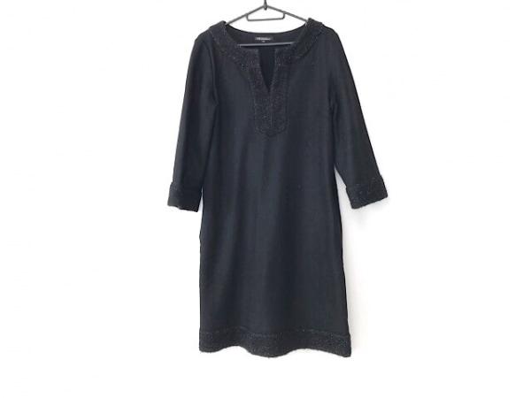 23区(ニジュウサンク) ワンピース サイズ40 M レディース美品  黒 ラメ