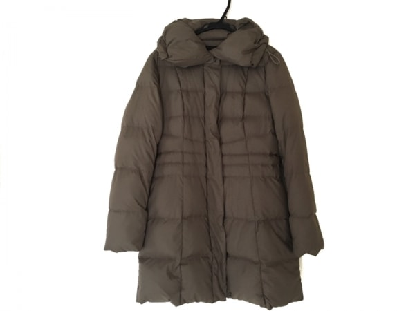 クリアインプレッション ダウンコート サイズ2 M レディース美品  ブラウン 冬物