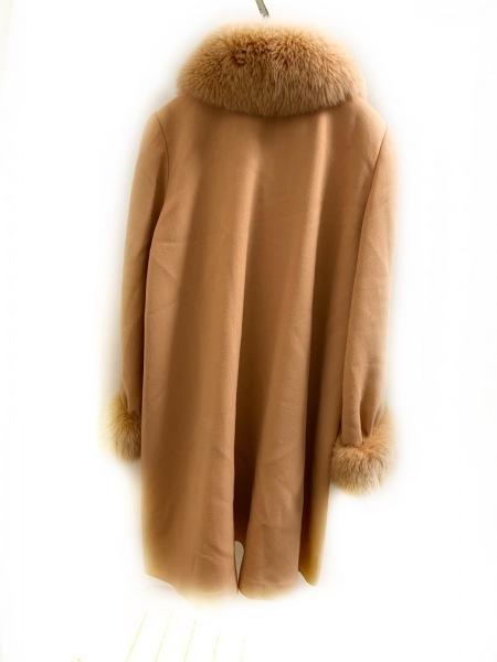 FOXEY(フォクシー) コート レディース美品  オレンジ 冬物/フォックスファー