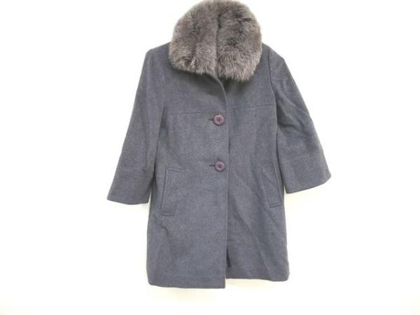 QUEENS COURT(クイーンズコート) コート サイズ2 M レディース美品  グレー 冬物