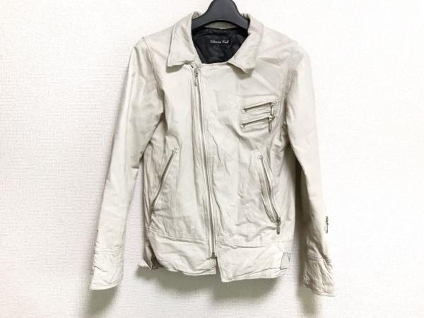 チャームカルト ライダースジャケット サイズS レディース美品  アイボリー