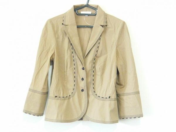 PAULEKA(ポールカ) ジャケット サイズ38 M レディース グレーベージュ×黒