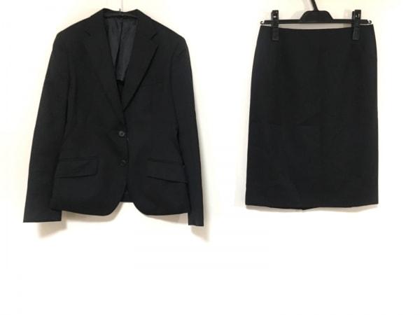 LES MUES(レミュー) スカートスーツ サイズS レディース 黒 肩パッド