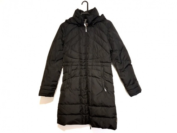 MONCLER(モンクレール) ダウンコート レディース - 黒 冬物