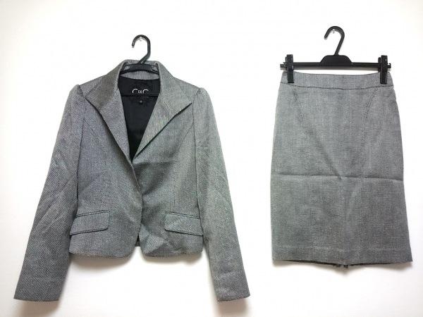 クードシャンス スカートスーツ サイズ38 M レディース グレー ラメ