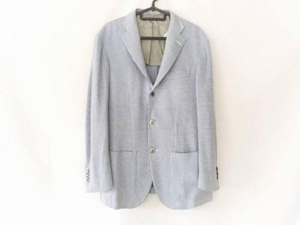 BRILLA(ブリラ) ジャケット メンズ ブルー×白 ストライプ