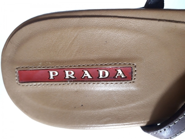 PRADA SPORT(プラダスポーツ) サンダル 36 レディース ダークブラウン レザー
