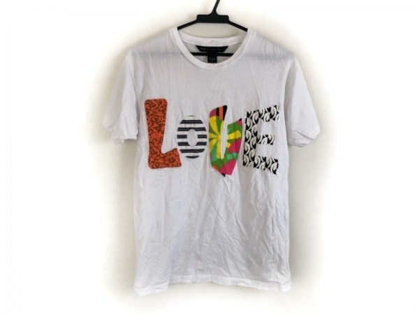 マークバイマークジェイコブス 半袖Tシャツ サイズXS レディース 白×マルチ