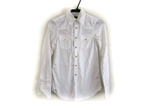 DSQUARED2(ディースクエアード) 長袖シャツブラウス サイズ38 S レディース美品  白