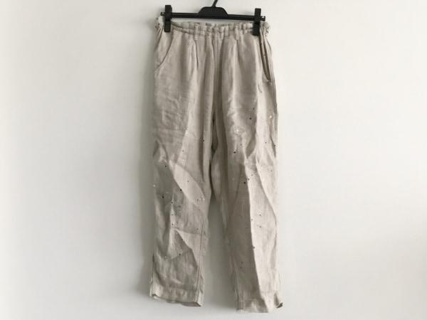 tumugu(ツムグ) パンツ サイズF レディース ベージュ×マルチ