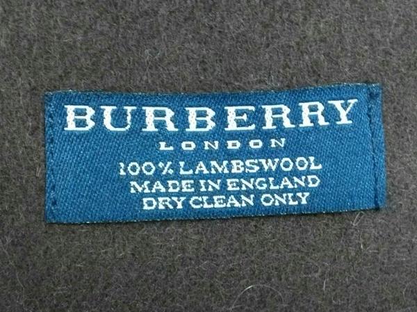 Burberry LONDON(バーバリーロンドン) マフラー美品  ダークブラウン ウール