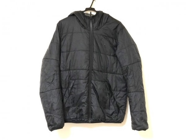 ナイキ ブルゾン サイズM メンズ美品  黒×イエロー×マルチ リバーシブル/中綿/冬物