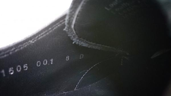 フローシャイム シューズ 8 メンズ 黒 アウトソール張替済/インソール取外し可 レザー