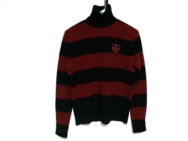 RalphLauren(ラルフローレン) 長袖セーター サイズ5f M レディース美品  黒×レッド