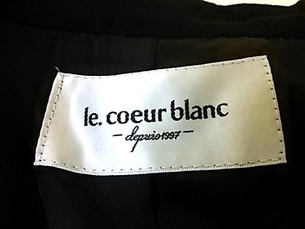 le.coeur blanc(ルクールブラン) コート サイズ38 M レディース 黒 冬物