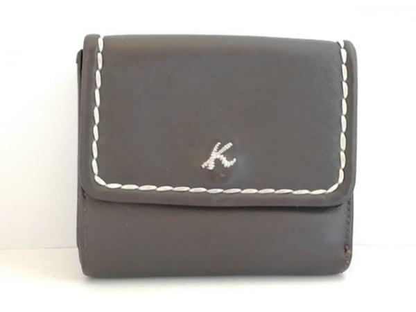 KITAMURA(キタムラ) Wホック財布 ダークブラウン レザー