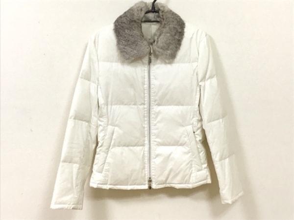 COMME CA MEN(コムサメン) ダウンジャケット サイズS メンズ 白 ラビットファー/冬物