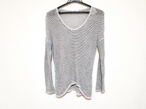 Helmut Lang(ヘルムートラング) 長袖セーター サイズS/P S レディース美品  白×黒