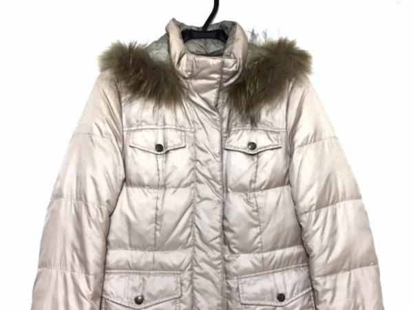 クミキョク ダウンコート サイズ3 L レディース ピンク×ベージュ 冬物/リバーシブル