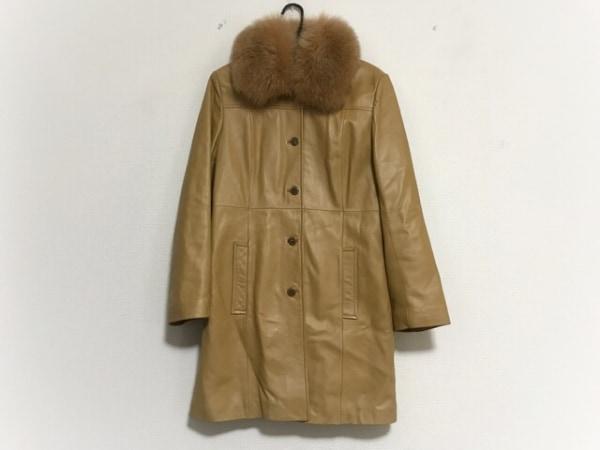 zelal(ゼラール) コート サイズ11AR M レディース美品  ライトブラウン レザー/冬物