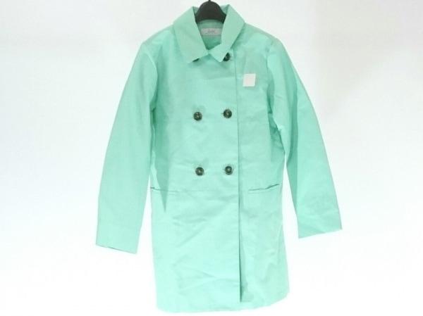 ゼラール トレンチコート サイズ13AR M レディース美品  ライトグリーン 春・秋物