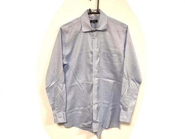 バーバリーブラックレーベル 長袖シャツ サイズ39 メンズ美品  ライトブルー