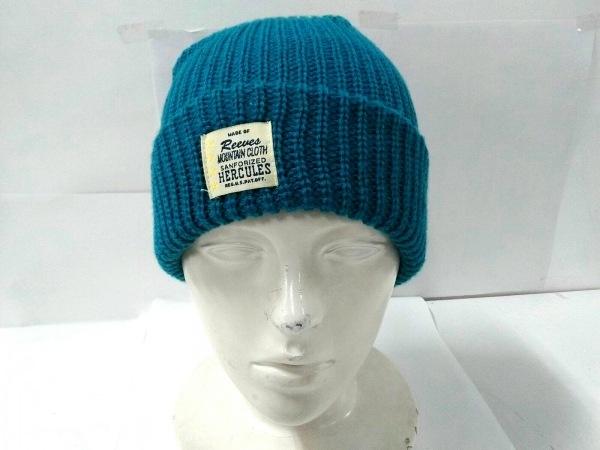 HERCULES(ヘラクレス) ニット帽美品  ライトグリーン アクリル