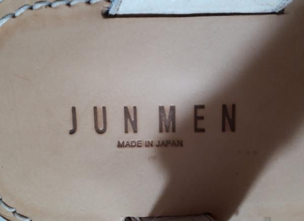 JUN MEN(ジュンメン) サンダル メンズ アイボリー レザー×スエード