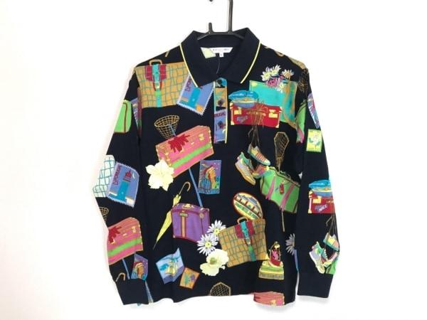 LEONARD(レオナール) 長袖ポロシャツ サイズL レディース美品  SPORT
