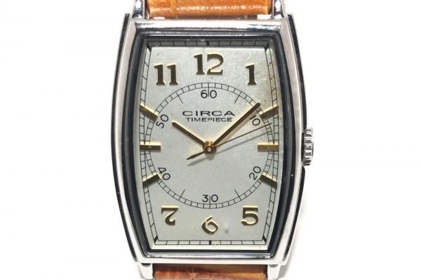 CIRCA(サーカ) 腕時計 CT112T レディース 型押し革ベルト 白