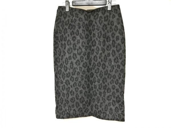ウィムガゼット スカート レディース ダークグレー×黒×ダークブラウン 豹柄