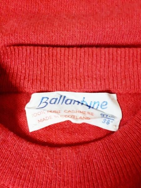Ballantyne(バランタイン) 半袖セーター サイズ38 M レディース レッド カシミヤ