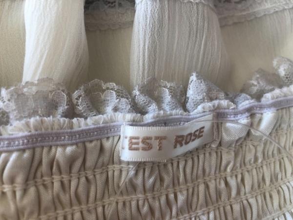 L'EST ROSE(レストローズ) ワンピース レディース美品  アイボリー×ライトグレー