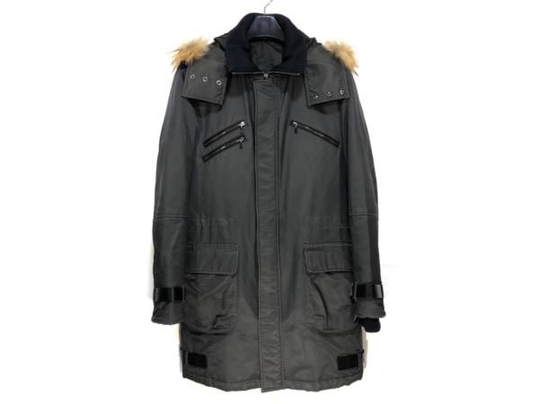 COMME CA DU MODE MEN(コムサデモードメン) コート サイズM メンズ 黒 冬物/ファー