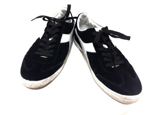 DIADORA(ディアドラ) スニーカー 27.5 メンズ 黒×白 スエード×レザー