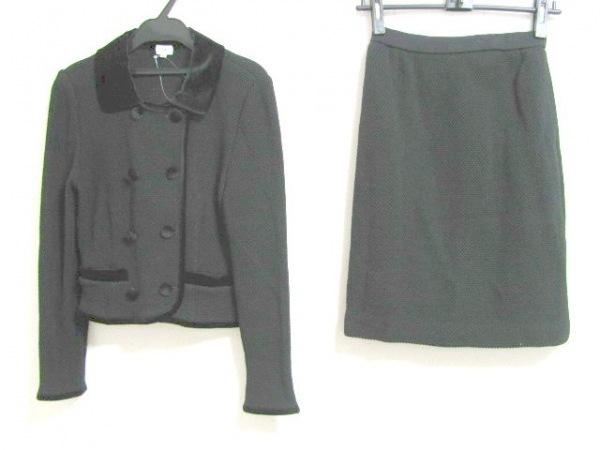 FOXEY(フォクシー) スカートスーツ サイズ40 M レディース 黒 ニット/BOUTIQUE