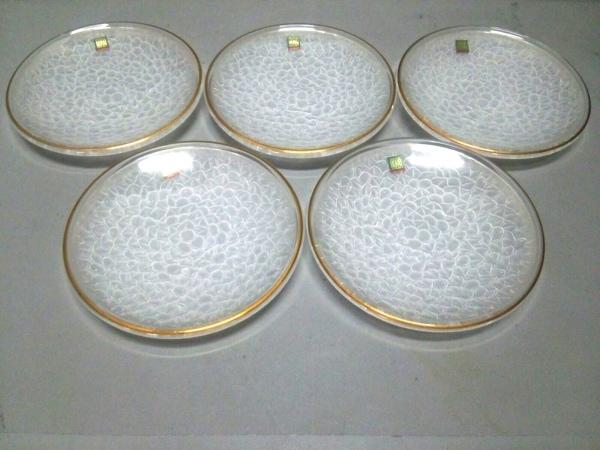 HOYAクリスタル(ホヤクリスタル) プレート新品同様  クリア プレート×5 ガラス