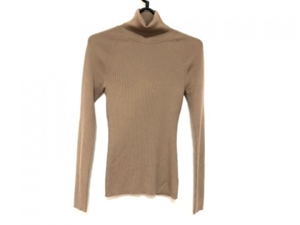 ユマエストネーション 長袖セーター サイズ38 M レディース美品  ライトブラウン