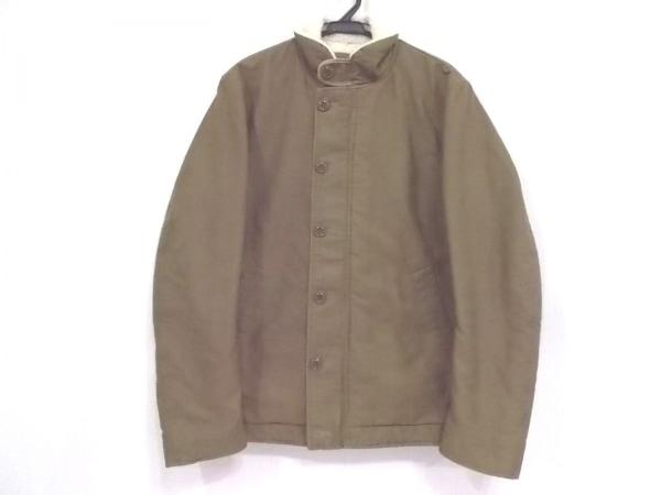 EDIFICE(エディフィス) コート サイズ40 M メンズ美品  カーキ×アイボリー 冬物