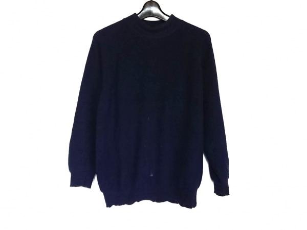 ダンヒル 長袖セーター サイズS メンズ ネイビー ハイネック/カシミヤ
