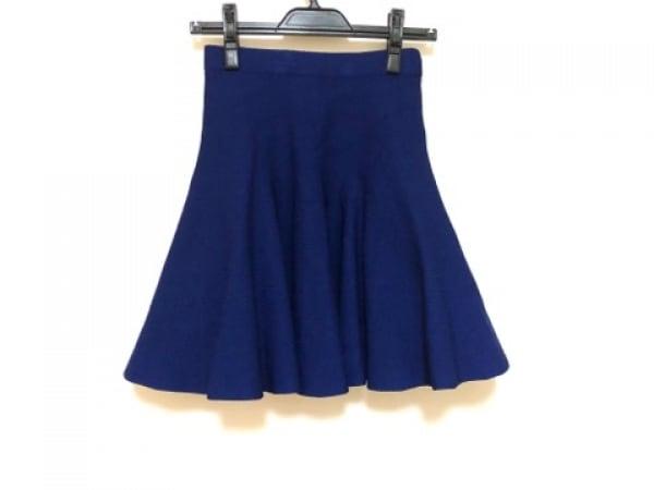 LE CIEL BLEU(ルシェルブルー) スカート サイズF レディース ブルー ニット