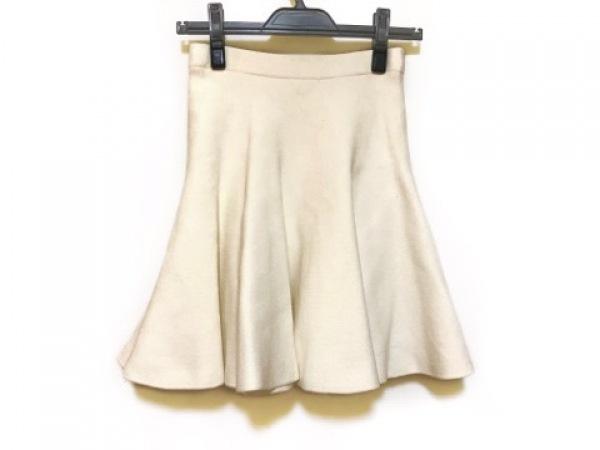 LE CIEL BLEU(ルシェルブルー) スカート サイズF レディース 白 ニット
