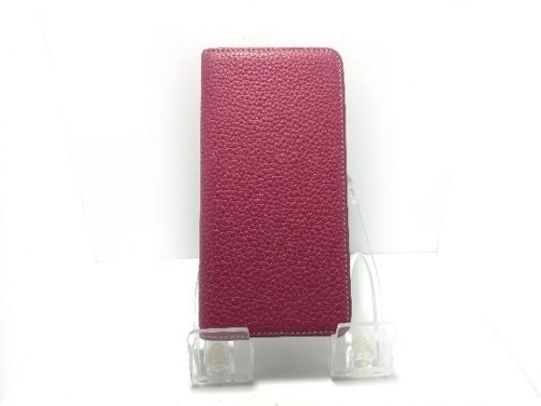 BONAVENTURA(ボナベンチュラ) 携帯電話ケース美品  ボルドー 手帳型 レザー