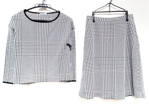 セオリーリュクス スカートセットアップ サイズ38 M レディース美品  黒×白