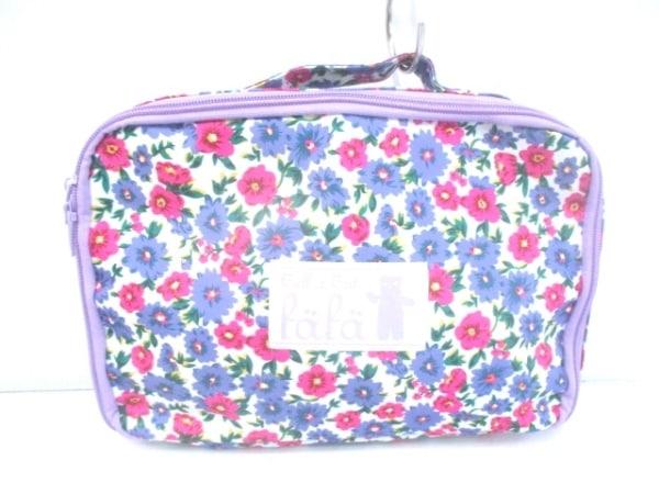 fafa(フェフェ) ハンドバッグ美品  パープル×ピンク 花柄 ナイロン