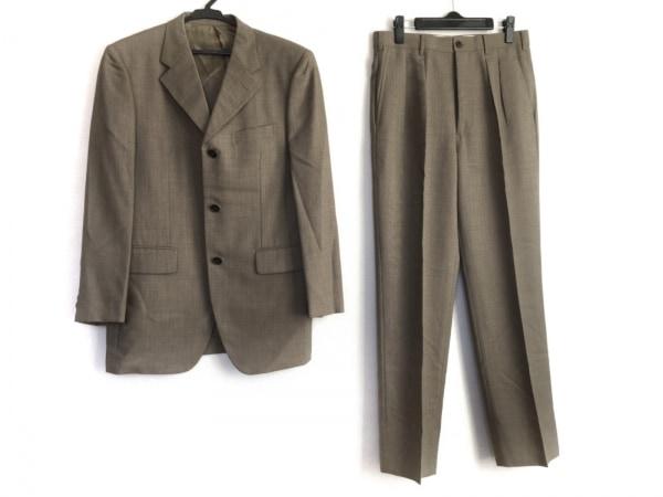 TAKEOKIKUCHI(タケオキクチ) シングルスーツ サイズ2 M メンズ ベージュ ネーム刺繍