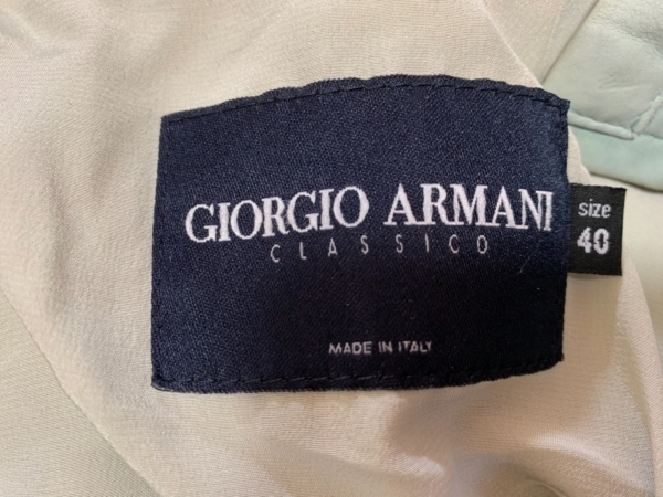 ジョルジオアルマーニクラシコ ブルゾン サイズ40 M レディース ライトブルー