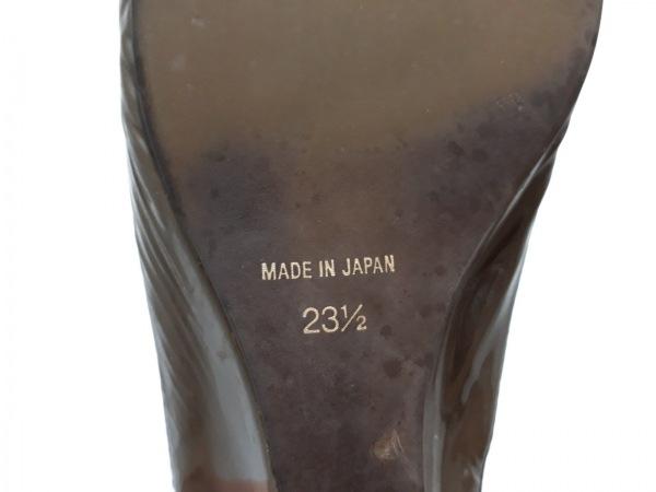 ラボキゴシ サンダル 23 1/2 レディース 黒×ベージュ works/EMIKO KAMISHIMA