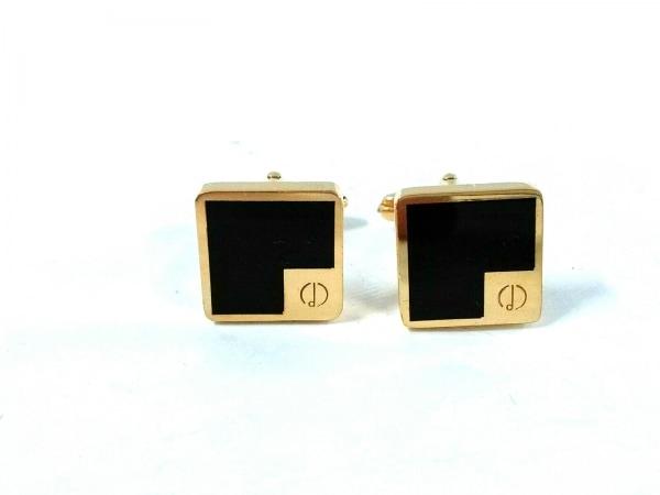 dunhill/ALFREDDUNHILL(ダンヒル) カフス美品  金属素材 ゴールド×黒